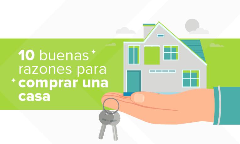 Portada de artículo de los 10 motivos para comprar una casa